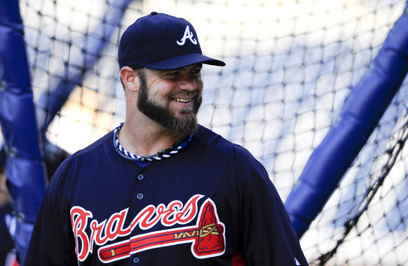 """Can a backup catcher be an All-Star?<br> <br> Absolutely, if Gattis is the backup catcher in question. The Braves rookie lost his spot in the lineup when Brian McCann was activated from the disabled list, but he just keeps bashing the ball, most recently as a pinch hitter <br> <br> Gattis entered the weekend as one of only 10 National League players with a .900-plus OPS over at least 150 plate appearances. He had homered four times in eight at-bats as a pinch hitter, most recently Monday. It was his 14th homer overall and made him 6-for-8 with 11 RBIs as a pinch hitter.<br> <br> """"I don't know how or why it's working out the way it is,"""" said Gattis, who is following Josh Hamilton's trail from substance abuse to success.<br> <br> Who does? But I know Gattis deserves serious consideration for the All-Star Game next month in New York."""