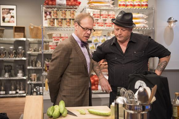 Alton Brown and Rodney Henry