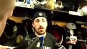 Video: Marchand on how Hawks 'don't throw pucks away'