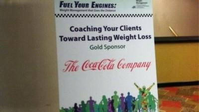 A sign at an Academy of Nutrition and Dietetics weight loss symposium.