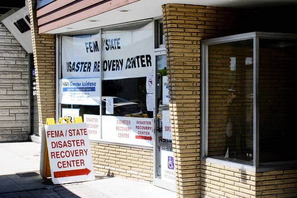 Pictured here in May, the FEMA disaster recovery center in downtown Des Plaines, 1486 Miner St., will close June 21.