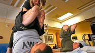 <b>Photos:</b> Yoga class at the Naval Medical Center