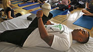 Wounded veterans turn to yoga for strength and solace
