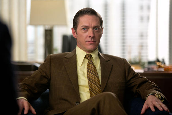 "Ted Chaough (Kevin Rahm) is humiliated by Don for having fallen in love with Peggy, in Episode 12 (""The Quality of Mercy"") of ""Man Men"" (Season 6)."