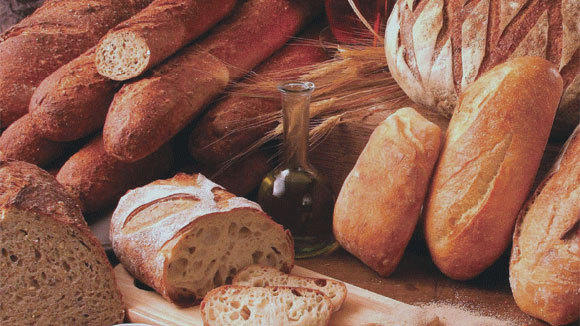 An array of fresh breads that Labriola Baking prepares for food service.
