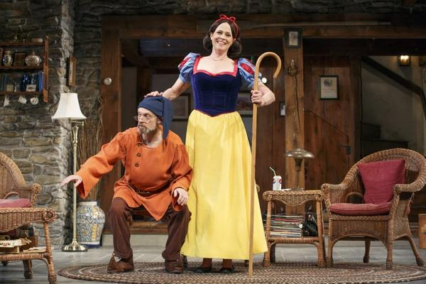 "David Hyde Pierce and Sigourney Weaver in Christopher Durang's ""Vanya and Sonia and Masha and Spike,"" at the Golden Theatre in New York."