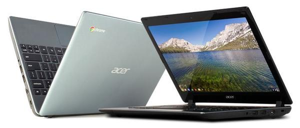 Wal-Mart began selling the Acer C7 Chromebook at many of its physical retail stores Monday.