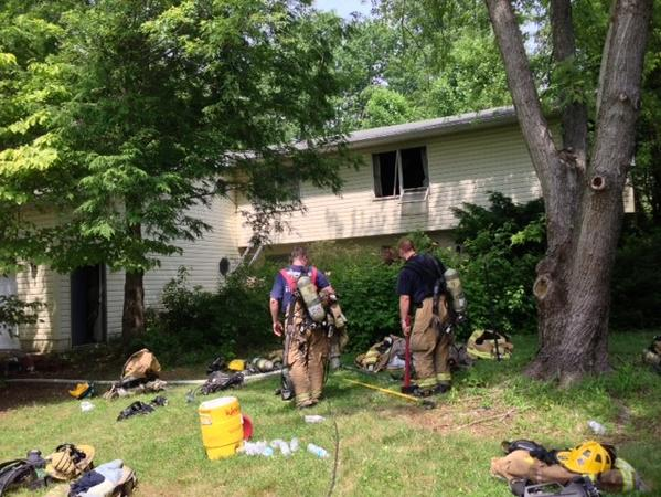 Anne Arundel County fire personnel responded Monday to a two-alarm fire in Davidsonville.