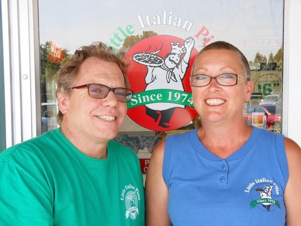 Chris and Denise Noyes own Little Italian Pizza in Naperville.