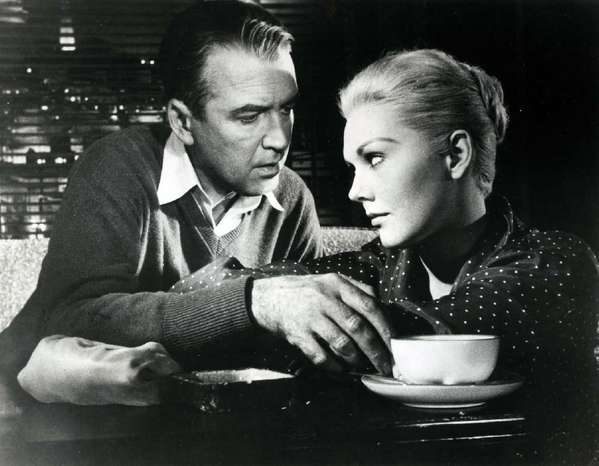 "Jimmy Stewart and Kim Novak star in Alfred Hitchcock's 1958 ""Vertigo,"" which screens Thursday evening at Oscars Outdoors."