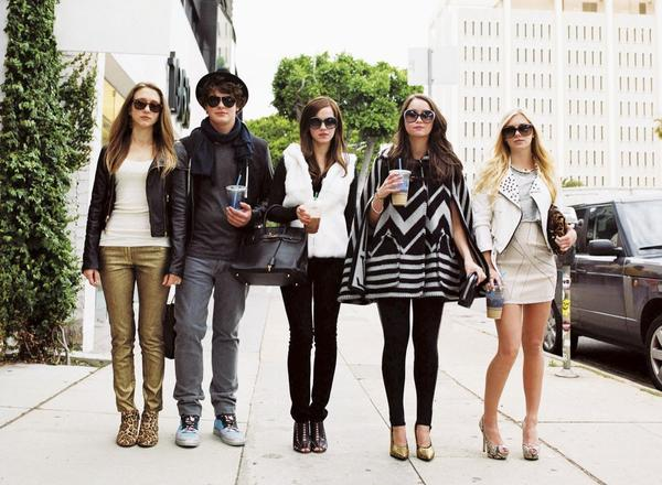 "Taissa Farmiga, from left, Israel Broussard, Emma Watson, Katie Chang and Claire Julien star in ""The Bling Ring."""