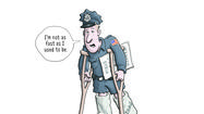 The world's wounded policeman