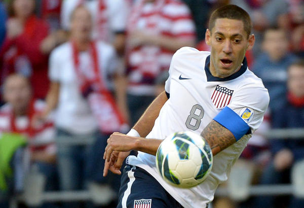 Clint Dempsey moves the ball upfield during a World Cup qualifier against Panama at Century Link Field in Seattle.