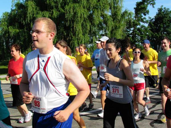 """Each year, Bud's Run raises money for the Sarcoma Foundation of America, in honor of Harold """"Bud"""" Swanson, a Glenbard North High School track coach who died in 2003."""