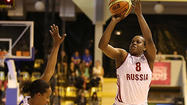 Epiphanny Prince in Sunday's loss to Sweden.  (FIBA Europe/Elio Castoria)
