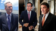 Three governors crisscrossed the state Monday, all looking to bolster their business strength, and no, there won't be a punch line here — other than the knockout that Texas Gov. Rick Perry and South Dakota Gov. Dennis Daugaard are trying to inflict on our own Gov. Dannel P. Malloy.