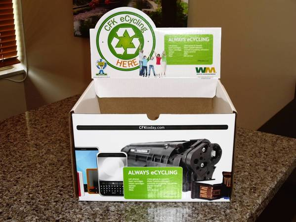 The Naperville Park District will accept small electronics for recycling at four locations through Aug. 16.