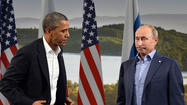 ENNISKILLEN, Northern Ireland -- Sharp divisions over the civil war in Syria led to an icy encounter Monday between President Obama and Russian President Vladimir Putin, whom U.S. officials view as a major hurdle in their drive to force Syrian President Bashar Assad from power.