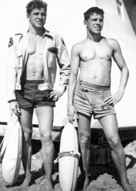 Bob Meistrell and his twin brother, Bill, were L.A. County lifeguards in the late 1940s.