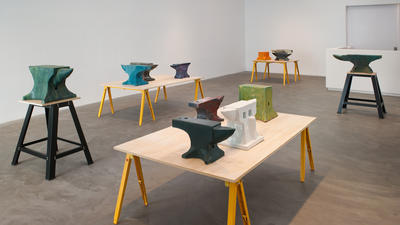 Review: Matthias Merkel Hess' sculptures at once earnest and sly