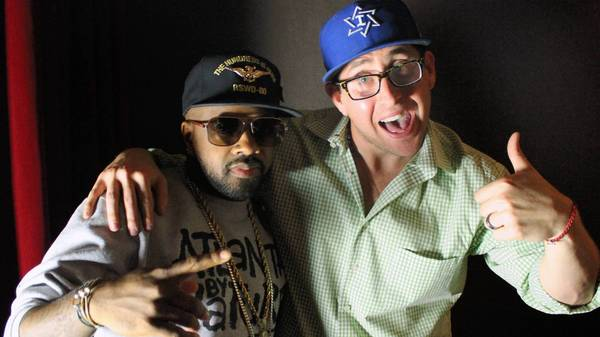 Producer/rapper Jermaine Dupri, left, and Scott Emo.
