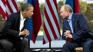 ENNISKILLEN, Northern Ireland — President Obama differed sharply with Russia's leader over the Syrian civil war in an icy encounter Monday illustrating how difficult it may be to drive Syrian President Bashar Assad from power, even after some rebel groups begin to receive U.S. weaponry.