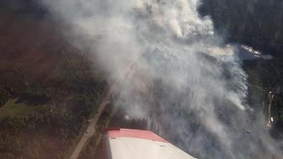 Kaouti Fire Burning on Chena Hot Springs Road