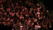 Raw: 100K Protesters Flood Brazilian Streets