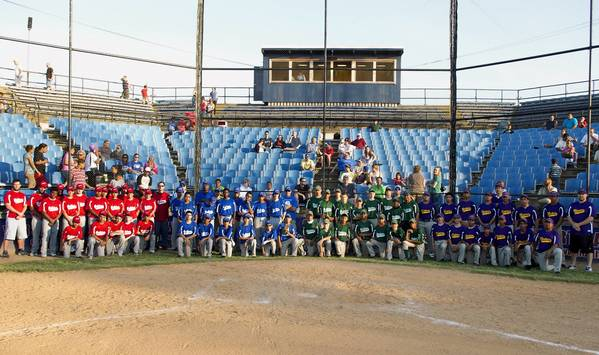 All four Allentown middle school baseball teams (from left), Trexler, Raub, South Mountain and Harrison-Morton were in the program this year.