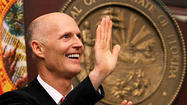TALLAHASSEE -- With a growing economy and legislative wins in the bank, Gov. <strong>Rick Scott's </strong>political fortunes appear to be improving.