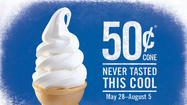 Fifty cent cones at Burger King