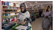 Ayesha Farooq, 26, Pakistan's only female war-ready fighter pilot, shops at the market of Mushaf base in Sargodha