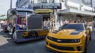 Picture it: Transformers cars at Universal Studios