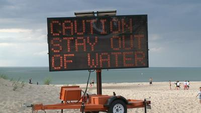 Officials identify silvery substance at Indiana beaches