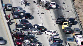 Wrong-way driver arrested in multiple-car crash on 14 Freeway