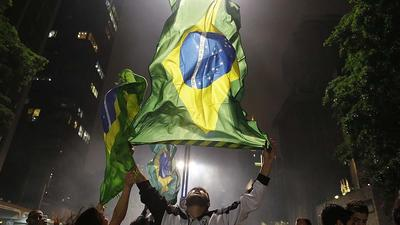<b> PHOTOS: </b>Brazilians protest rising public transport costs