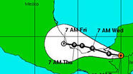 The season's second tropical depression formed Monday along the Mexican coast, nearly two weeks after Tropical Storm Andrea, but it's uncertain whether it will become Tropical Storm Barry.