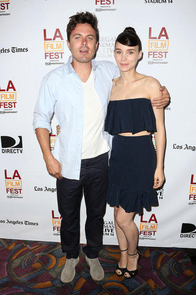 """Casey Affleck, left, and Rooney Mara at the 2013 Los Angeles Film Festival screening of """"Ain't Them Bodies Saints."""""""