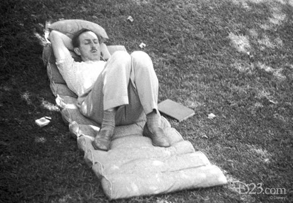 Picture: Walt Disney at home in the 1940s