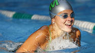 A Kingsmill female swimmer participates in the breaststroke on Monday.