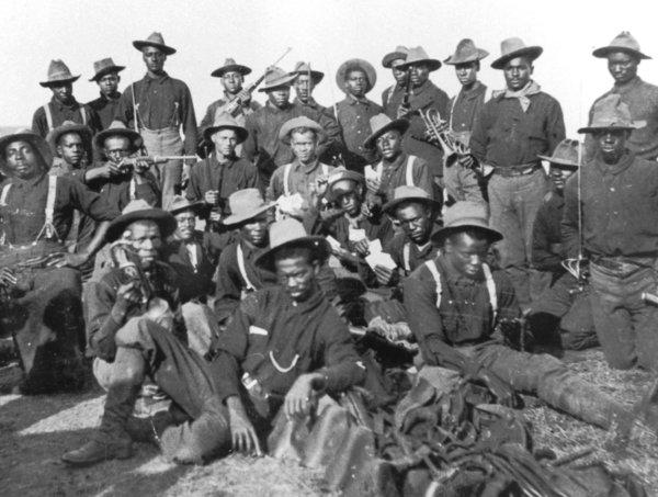 "'Buffalo Soldiers' pictured in the book ""Buffalo Soldiers: A Narrative of the Black Calvary in the West,"" by William H. Leckie and Shirley A. Leckie."