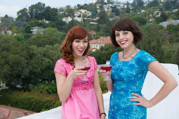 "From left, Georgia Hardstark and Alie Ward on the Cooking Channel's ""Tripping Out with Alie and Georgia."""