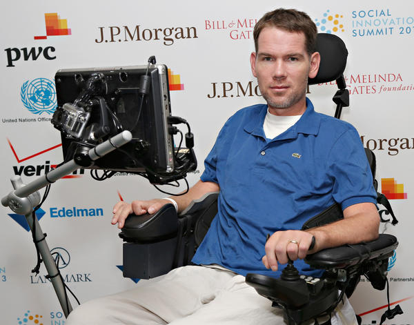 Former NFL player Steve Gleason attends the Social Innovation Summit in New York in May.