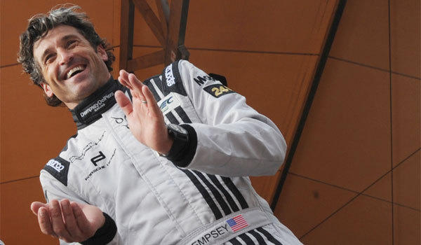 Patrick Dempsey takes part in the technical audits of the 24 Hours of Le Mans endurance race in western France on Sunday.
