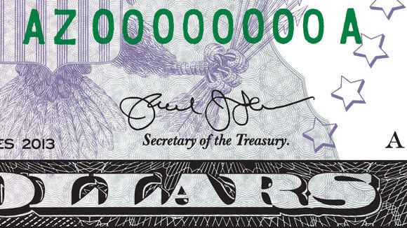 A Treasury Department Tweet shows the improved signature of Secretary Jack Lew.