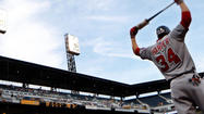 Washington Nationals outfielder Bryce Harper was cleared to resume workouts with a goal of gradually increasing intensity to gauge how his ailing left knee responds.