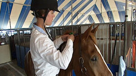 For at least one member of Virginia Tech equestrian team, love of horses goes far beyond ring