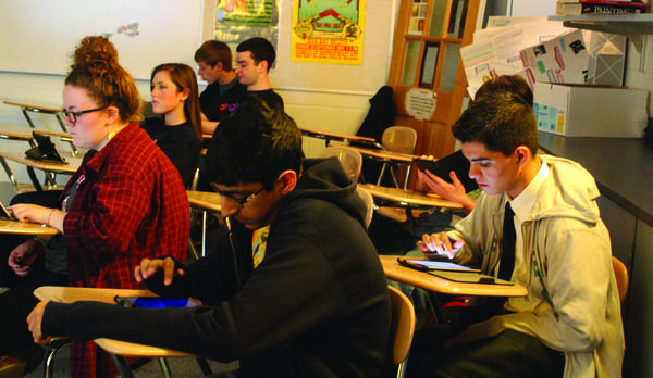 Glenbrook High School District 225 students test out personal devices during a pilot program earlier this year. The district recently approved purchasing 3,900 Samsung ChromeBooks for freshmen, sophomores and juniors for the 2013-2014 school year.