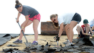 Teens visit from other states to work on housing repair through Mason Dixon Workcamp