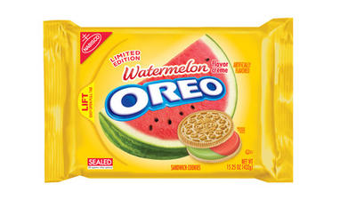 Watermelon Oreos? They're not black and white
